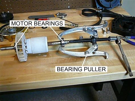 motor bearing how to replace the bearings in a pool motor part i