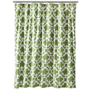 green curtains target target home grid green fabric shower curtain