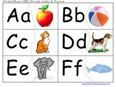 printable alphabet puzzle cards 1000 images about pocket chart center printables on