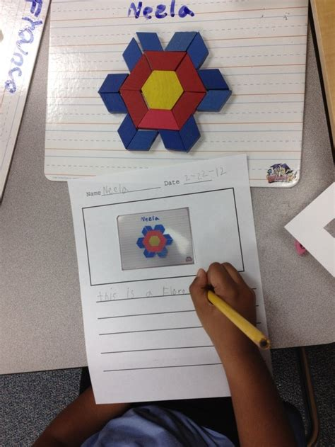 pattern writing for nursery class pattern block writing trying to add more authentic