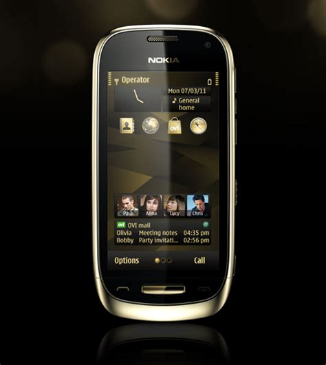 themes gold nokia premium nokia phone nokia oro 187 latest hi tech news