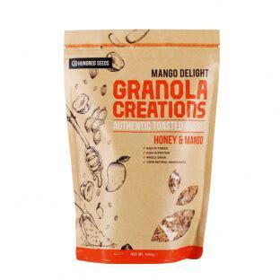 Muesli Granola Dalam Rasa Honey And Mango harga granola creation honey mango mango delight 480 gr