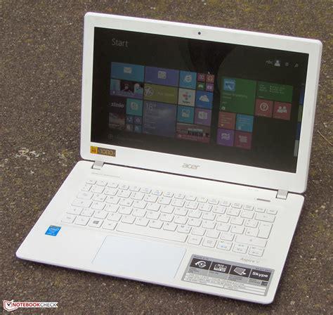Laptop Acer V13 I5 kort testrapport acer aspire v3 371 55gs subnotebook notebookcheck nl