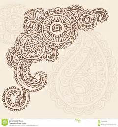henna mehndi doodle vector abstract design stock vector