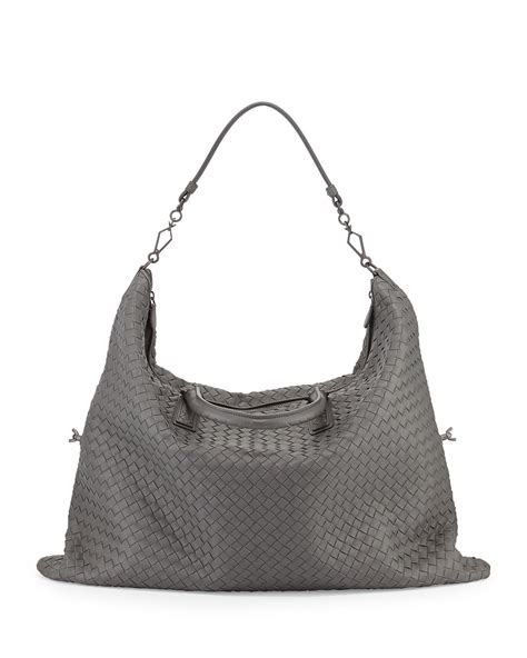 Bottega Veneta Woven Tote by Bottega Veneta Maxi Convertible Woven Tote Bag In Gray Lyst