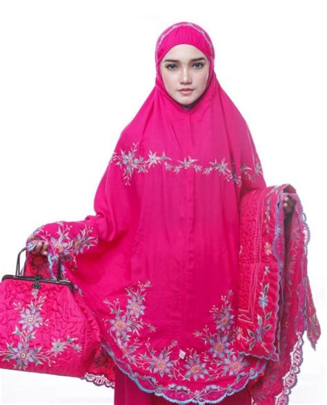 Mukena Adelia mukena behel adelia magenta 187 mukena cantik baju muslim