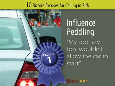 ten excuses for calling in sick