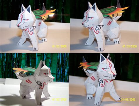 Amaterasu Papercraft - chibi okami papercraft by draco3013 on deviantart