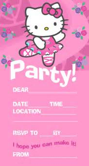 blank hello kitty blank birthday invitations