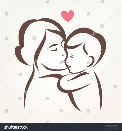 mother hugging child skech mother and child drawing free