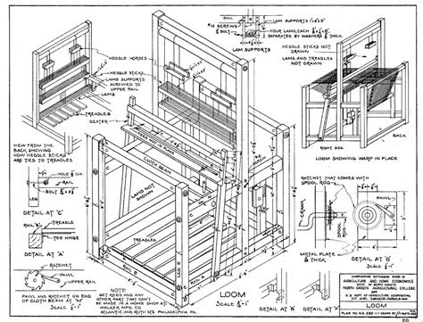 floor loom plans pdf weaving loom plans plans free