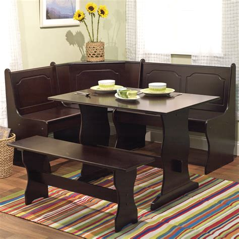 bench dining room set 21 space saving corner breakfast nook furniture sets booths