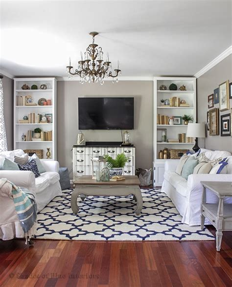blue living room decorating ideas ingrid pinterest charming home tour shades of blue interiors town
