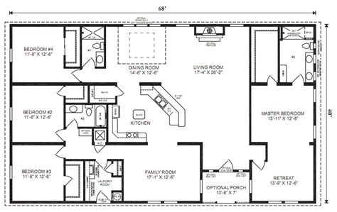 4 bedroom floor plan how to read manufactured home floor plans