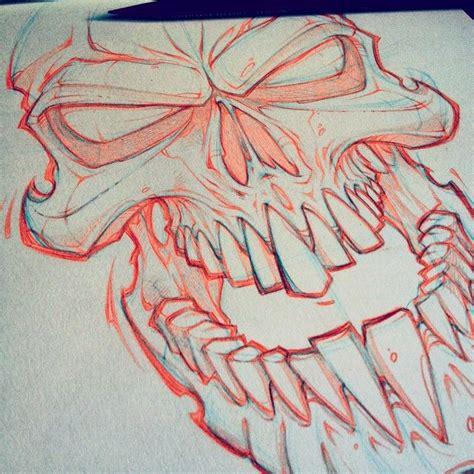 lunch scribble skull art absorb drawing design