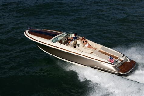 corsair boat crashing through the waves in the new chris craft 32
