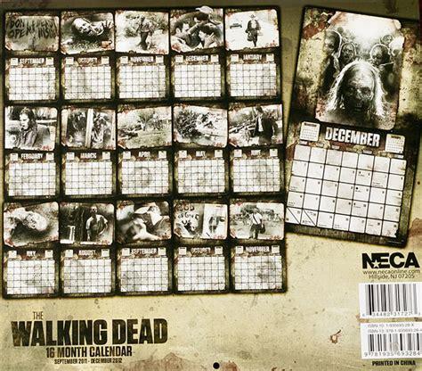 Calendrier Walking Dead Un Calendrier Walking Dead 2012