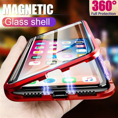 magnetic adsorption double side glass case cover