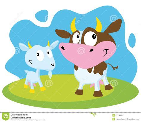 clipart mucca mucca e capra illustrazione vettoriale illustrazione di