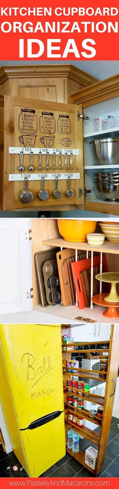 awesome kitchen cupboard organization ideas