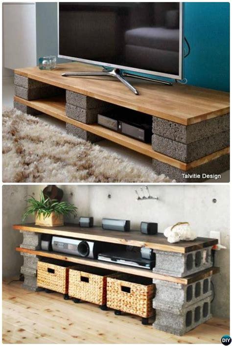tv stand ideas diy cinder block tv stand console 10 diy concrete block