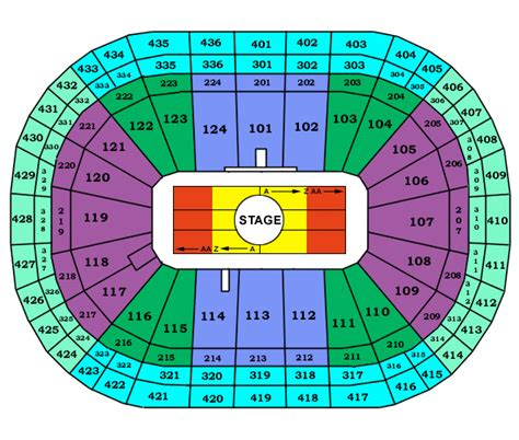 bell center seating chart bell center montreal