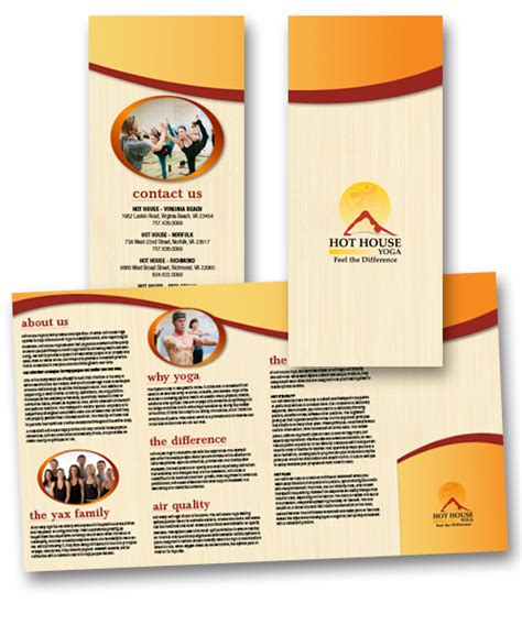 hot house yoga portfolio categories flyers brochures rack cards