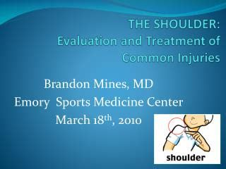 Sport Therapy For The Shoulder Evaluation Rehabilitation And Return ppt the shoulder evaluation and treatment of common injuries powerpoint presentation id 6869624