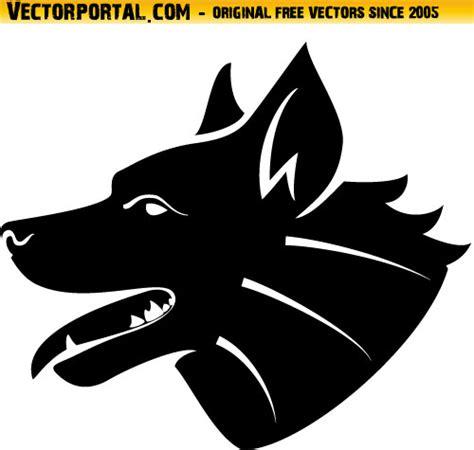 dog head silhouette clip art dog head vector silhouette by vectorportal on deviantart
