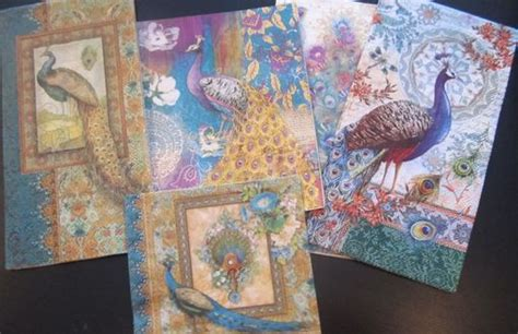 decoupage furniture with scrapbook paper made peacock paper napkins for decoupage