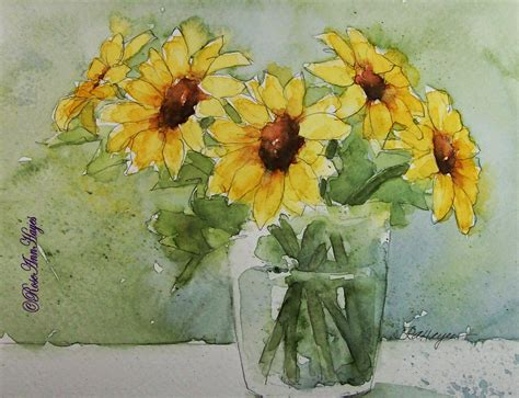 Pressed Glass Vases Watercolor Paintings By Roseann Hayes