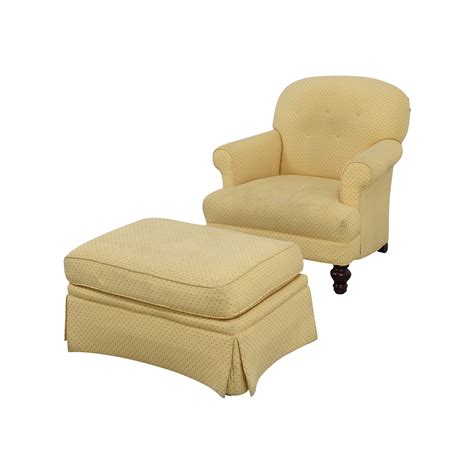 sofa chair with ottoman 90 off yellow arm chair with ottoman chairs