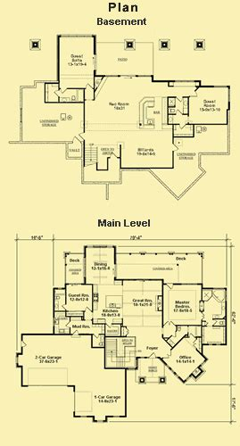 hillside view home plans 171 floor plans mountain view plans for a hillside home with walk out lower