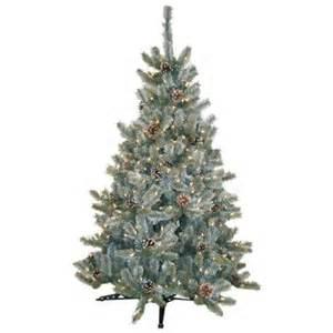 general foam 4 5 ft pre lit siberian frosted pine