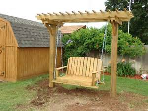 Swing Pergola Plans 1000 images about arbor pergola amp swings on pinterest