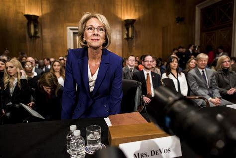 betsy devos job betsy devos trump s education pick lauded as bold