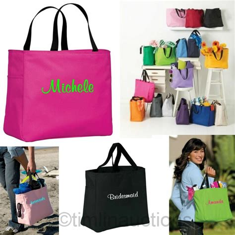 bridesmaid gift bags monogrammed personalized tote bag