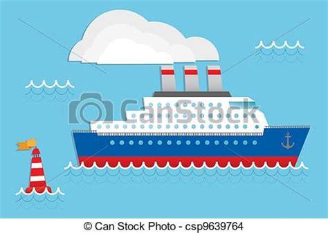 boat shipping line cruise ship cruise liner cruise ship vector illustration