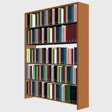 bookshelf books shelf 3d max