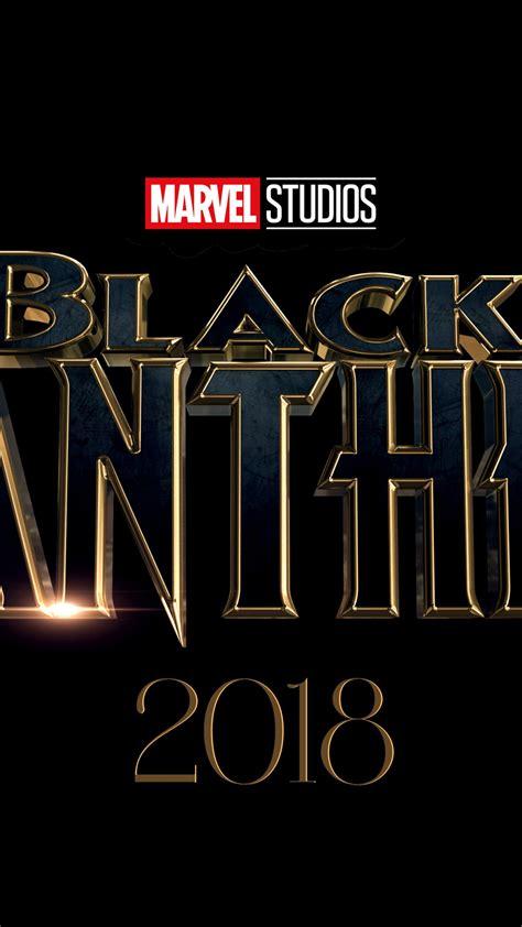 wallpaper black panther marvel studios   logo