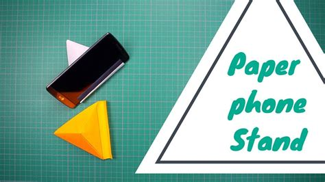How To Make A Paper Phone Easy - how to make paper phone stand holder v3 this is a easy