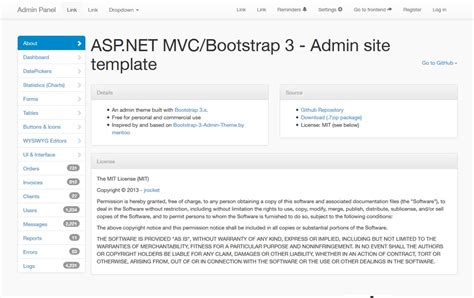 Template Asp Net Mvc Bootstrap Admin Template