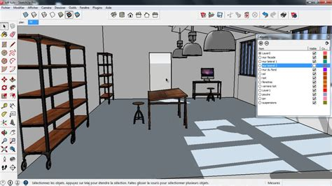 tuto sketchup d 233 coration d int 233 rieur avec sketchup 2014