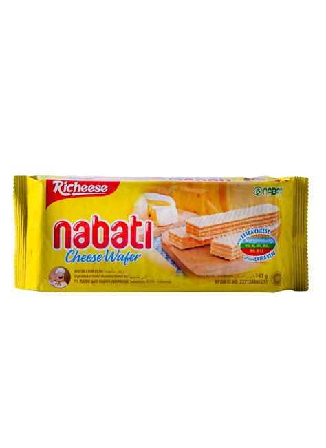 Kompor Nabati nabati richeese wafer krim keju pck 145g klikindomaret