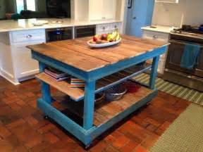 build kitchen island table diy rustic pallet kitchen island 101 pallets