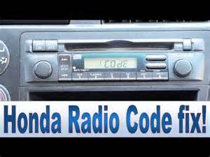Honda Accord 2003 Radio Code Honda Civic Accord Cr V Pilot Radio Code And Serial Number