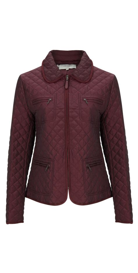 Hobbs Quilted Coat by Hobbs Quilted Molly Jacket In Berry