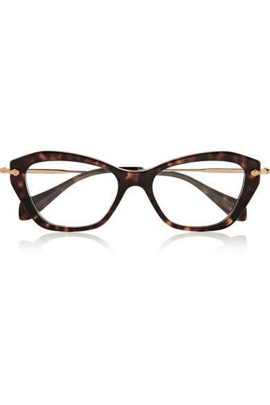 miu miu cat eye acetate optical glasses net a porter