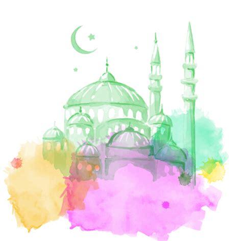 design background ramadan watercolor drawing ramadan kareem vector background 10