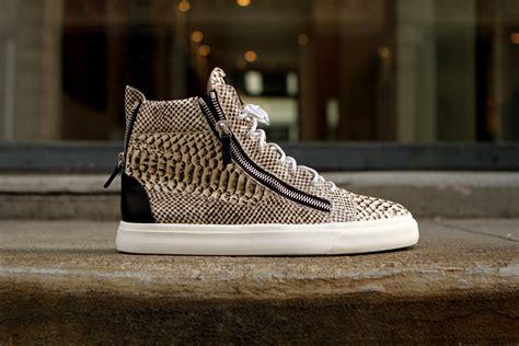 snakeskin giuseppe sneakers giuseppe zanotti quot snakeskin quot hi sneaker hypebeast
